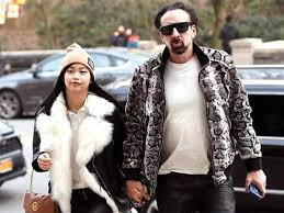 Nicolas Cage with his wife Riko