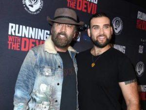 Nicolas Cage with his son Weston