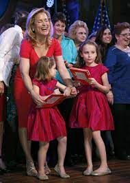 Heidi Cruz with her daughters