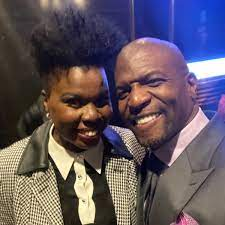 Terry Crews with his sister