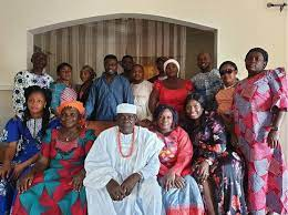 Moses Simon with his family