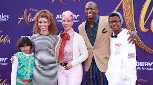 Terry Crews with his wife & kids