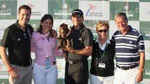 Sergio Garcia with his family