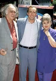 Nicolas Cage with his parents