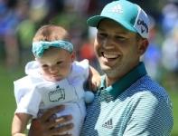 Sergio Garcia with his daughter