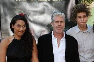 Ron Perlman with his children