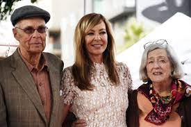 Allison Janney with her parents