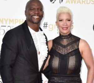 Terry Crews with his wife